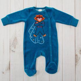 Комбинезон детский, рост 56 см, цвет синий 522- AZ_М