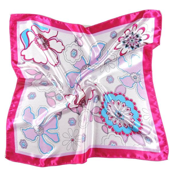 Шейный платок с цветами