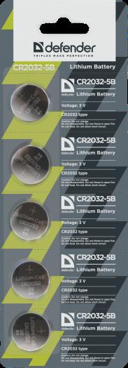 Батарейка литиевый элемент питания (диск) Defender CR2032/5B