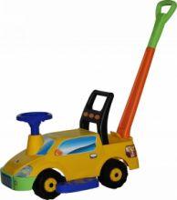 """Каталка-авто """"Пикап"""" с ручкой желтый 3552"""