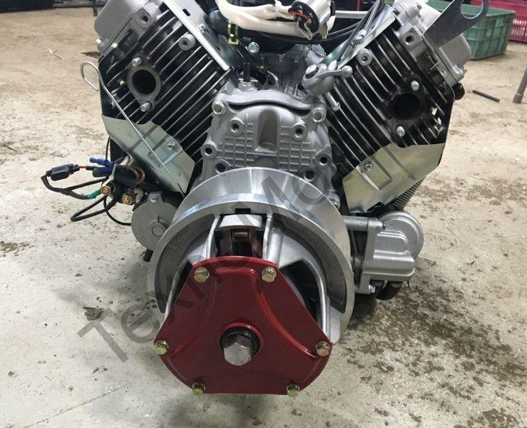 Двигатель на снегоход Буран мощностью 35 л.с., объем 690 куб/см, двухцилиндровый, 4-х тактный с электростартером - на Буран