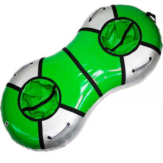 Тюбинг Дуэт, цвет зеленый/серебро