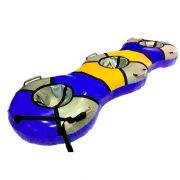 Тюбинг-банан синий для катания втроем
