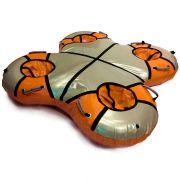 Тюбинг квадро оранжевый для катания вчетвером