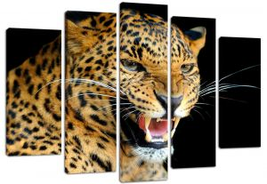 Модульная картина Оскал леопарда