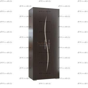 Шкаф 2-дверный Альбина МДФ (78х55х204) (Гостиная)