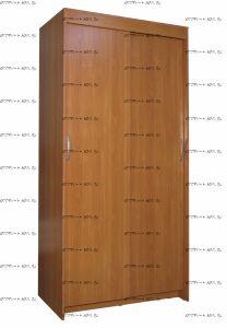 Шкаф-купе 2-дверный Лидер МДФ (100х60х212)