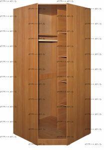Шкаф угловой Лидер МДФ (90х90х212)