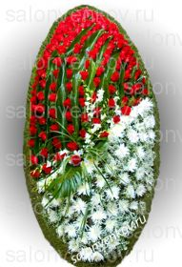Элитный траурный венок из живых цветов №11, РАЗМЕР 100см,120см,140см,170см