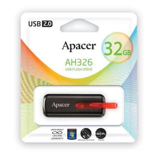 USB накопитель Apacer 32 GB AH326 black