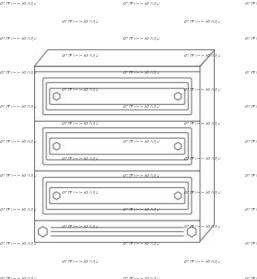 Комод Патиния, мод. 25 МДФ (80/90х39х70)