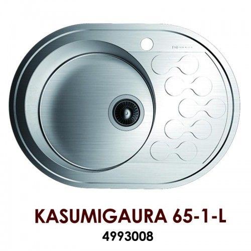 Кухонная мойка Omoikiri Kasumigaura 65-1-L нерж.сталь/нержавеющая сталь 4993008