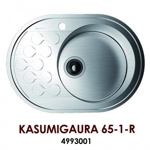 Кухонная мойка Omoikiri Kasumigaura 65-1-R  нерж.сталь/нержавеющая сталь 4993001