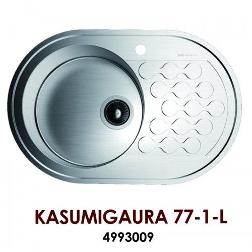 Кухонная мойка Omoikiri Kasumigaura 77-1-L нерж.сталь/нержавеющая сталь 4993009