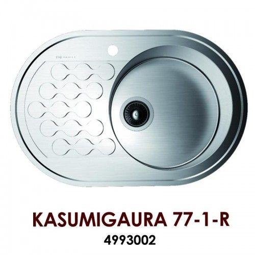 Кухонная мойка Omoikiri Kasumigaura 77-1-R нерж.сталь/нержавеющая сталь 4993002