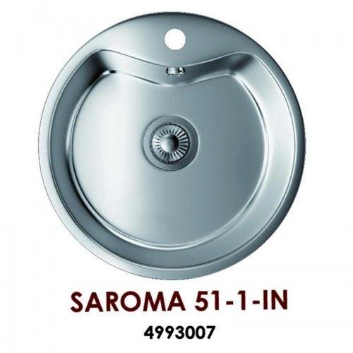 Кухонная мойка Omoikiri Saroma 51-1-IN нерж.сталь/нержавеющая сталь 4993007