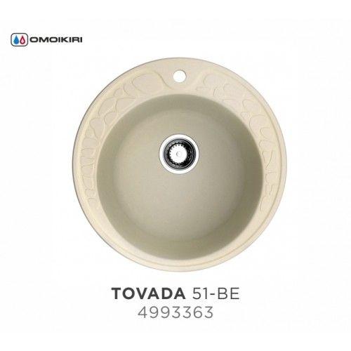 Кухонная мойка Omoikiri Tovada 51-BE 4993363