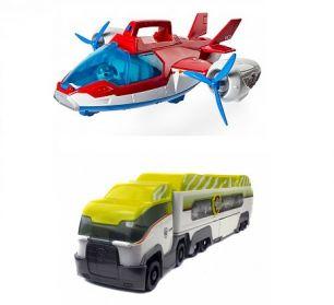 Патрулевоз джунгли + Патрулелет (Щенячий патруль, Самолет + Автовоз, Трейлер-трэк)