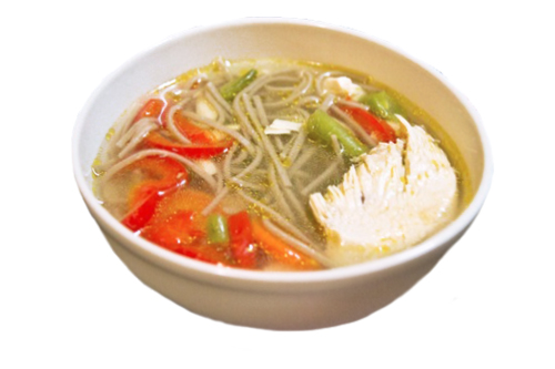 Суп с цыпленком и гречневой лапшой