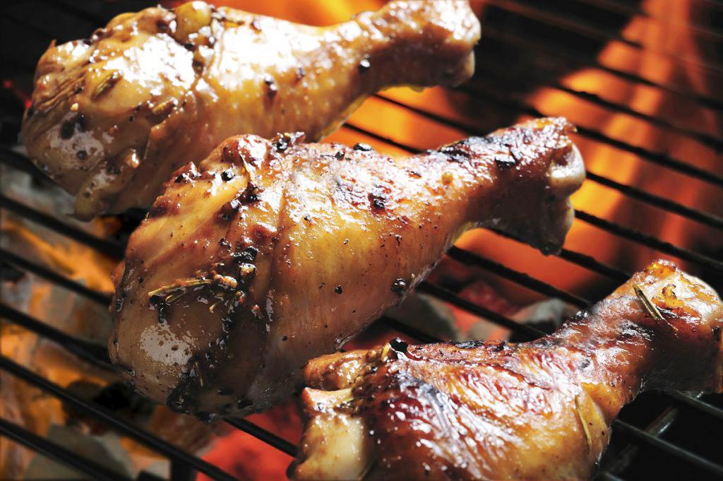 сочный шашлык из цыпленка Голень