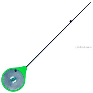 Балалайка Bravo fishing SK-G с кнопкой поликарбоновый хлыстик ( зелёная)