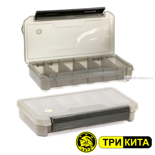 Коробка ТриКита для приманок КДП-1 зелёная (190х100х30)