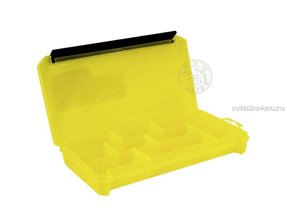Купить Коробка ТриКита для приманок КДП-2 жёлтая (230х115х35)