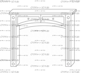 Стол туалетный Патиния, мод. 42 МДФ (98х42х82)