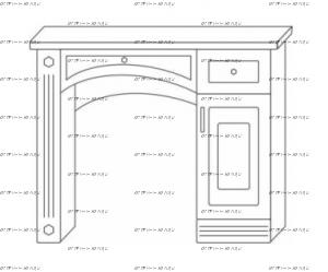Стол туалетный Патиния, мод. 43 МДФ (95х42х82)