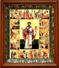 Ипатий Гангрский (19х22), светлый киот