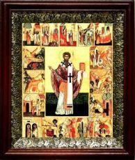 Ипатий Гангрский (19х22), темный киот