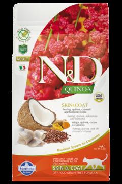 N&D Cat Quinoa Skin&coat Herring (Сельдь, киноа, кокос и куркума. Здоровье кожи и шерсти)