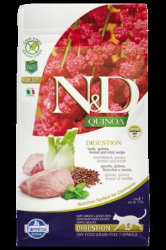 N&D Cat Quinoa Digestion Lamb (ягненок, киноа, фенхель и мята. Чувствительное пищеварение)