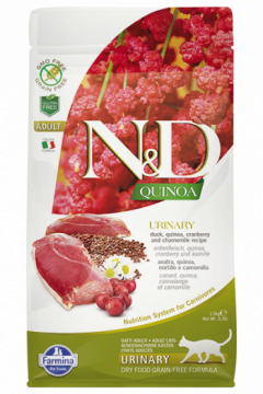 N&D Cat Quinoa Urinary Duck (Утка, киноа, клюква и ромашка. Профилактика мочекаменной болезни.)