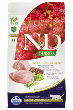 N&D Cat Quinoa Weight Management Lamb (ягненок, киноа, брокколи и спаржа. Контроль веса)