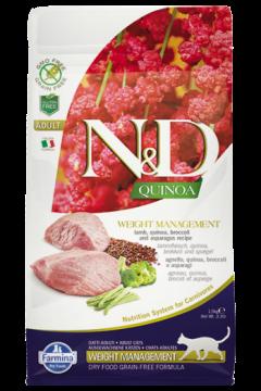 N&D Cat Quinoa Weight Management Lamb (Ягненок, киноа, брокколи и спаржа. Контроль веса.)