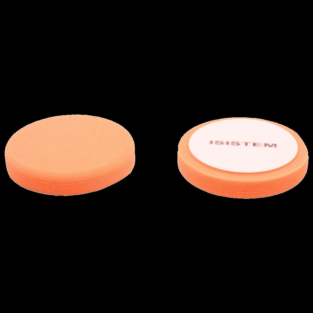 Isistem Полировальный круг из поролонa D80 mm T30 mm жесткий оранжевый - ISISTEM Norma Orange