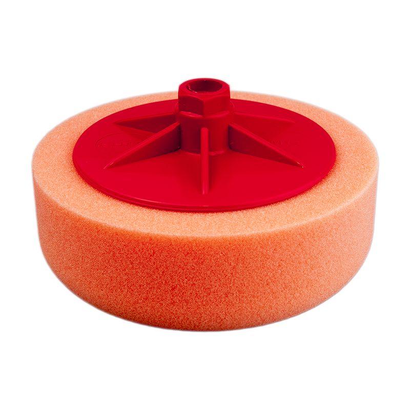 Isistem Полировальный круг с резьбой M14 из поролонa D150mm T50mm среднежест оранжевый ISISTEM Medium Orange