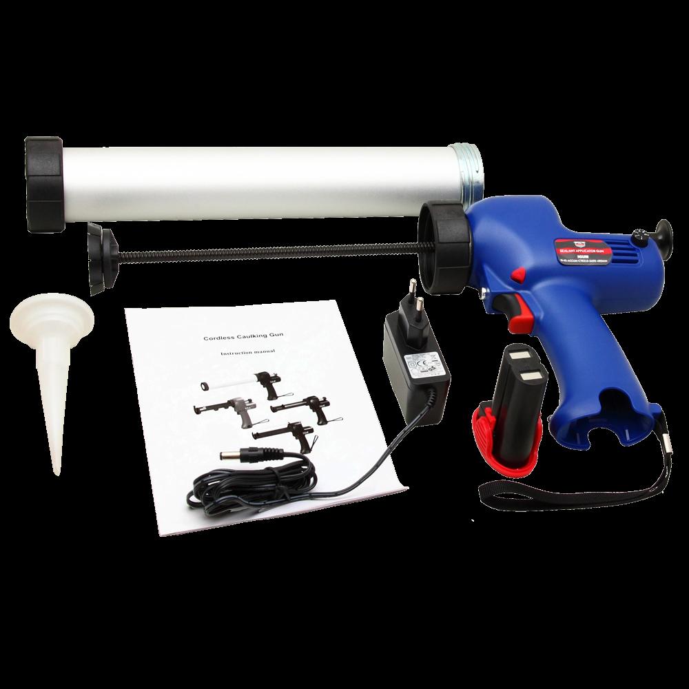 Isistem Аккумуляторный пистолет для герметиков IGUN для 310мл и туб 600мл, 300 кгс, 6,9 мм/сек, длина 480мм (упаковка 1шт.)