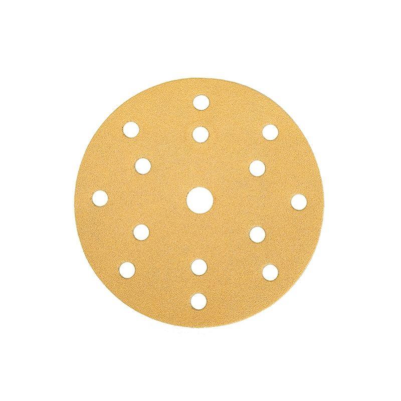 """Mirkа GOLD. Абразивный круг на бумажной основе """"липучка"""" 125мм 8 отверстий P150, (упаковка 50 шт.)"""