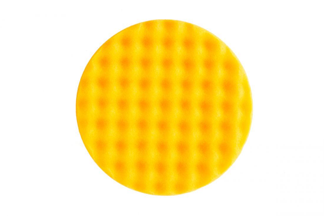 Mirka Рельефный поролоновый полировальный диск 150мм.,жёлтый, (упаковка 2 шт.)