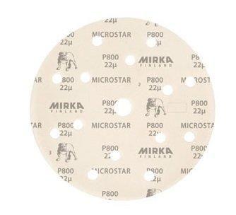 """Mirka MICROSTAR. Шлифовальный мат на плёночной синтетической основе """"липучка"""" 150мм 15 отв P1500, (упаковка 50 шт.)"""