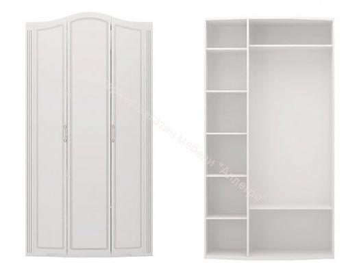 Шкаф для одежды 3-х дверный (без зеркала) Виктория Белый глянец