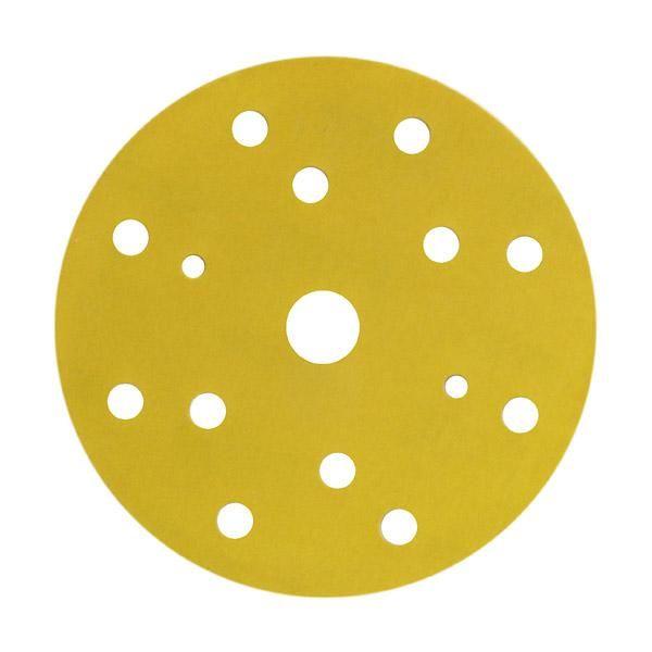 3М Круг 255P+ Hookit™ абразивный, золотой, 15 отверстий, Р320, 150мм., (упаковка 100 шт.)