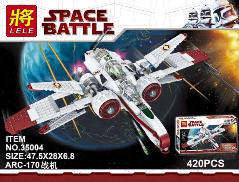"""Конструктор Lele Space Battle """" Истребитель Звездного флота """"420 деталей No.35004"""
