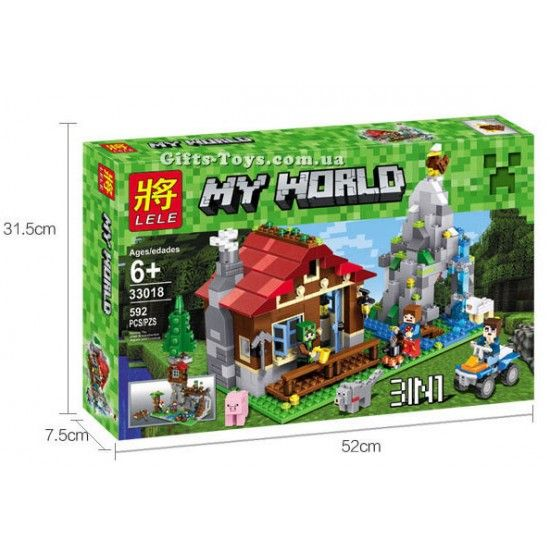 "Конструктор Lele My World""Хижина в горах"" 592 деталей No.33018"