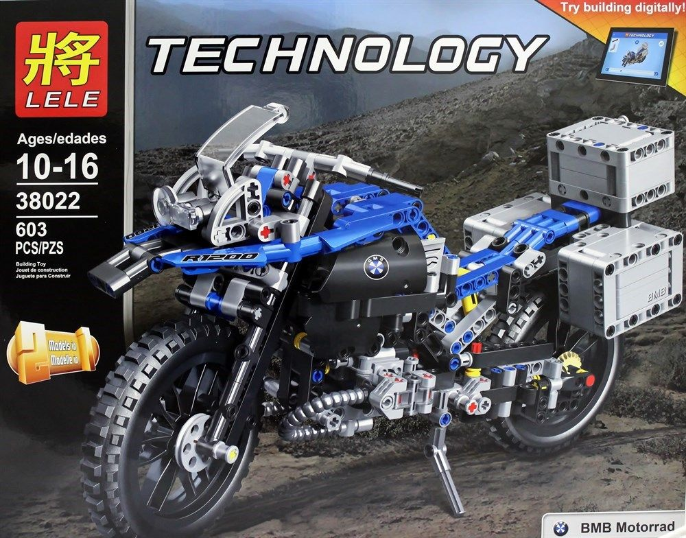"""Конструктор Lele Technics"""" Мото, 2 модели в 1 """" 603 детали No.38022"""