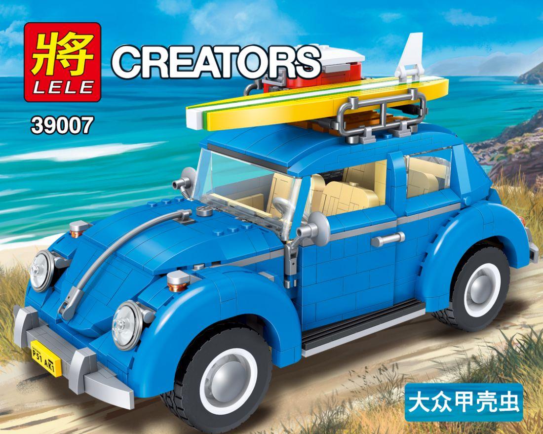 """Конструктор Lele Creators""""Volkswagen Жук"""" 1167 деталей No.39007"""