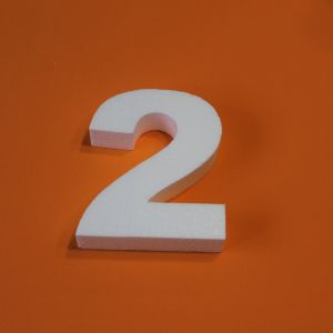 """`Цифра """"2"""" 29 см, пенопласт"""