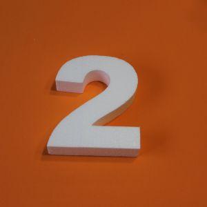 "Цифра ""2"" 20 см, пенопласт (1уп = 2шт)"